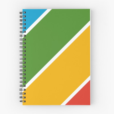 Color Diagonal Stripes Spiral Notebook
