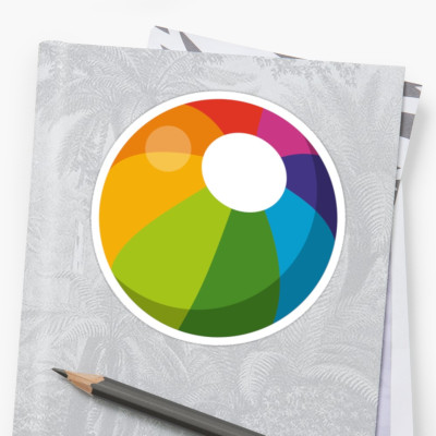 Multicolor Beach Ball Sticker