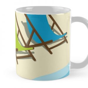 Deck Chairs on the Beach Mug