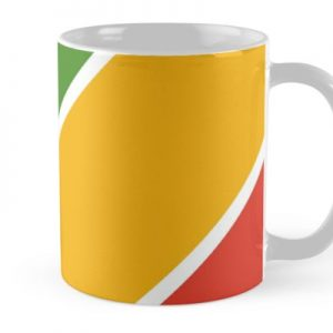 Colorful Diagonal Stripes Mug