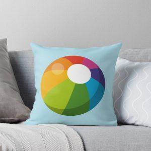 Multicolor Beach Ball Throw Pillow