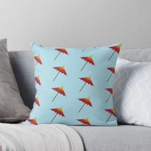 Cocktail Umbrella Throw Pillow