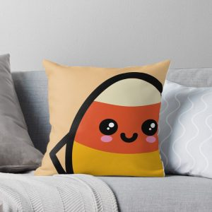 Creepy Egg Candy Corn Throw Pillow