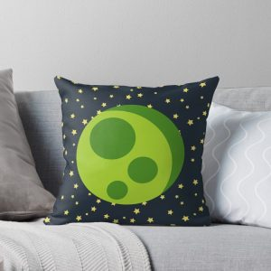 Green Moon – Starfield Throw Pillow