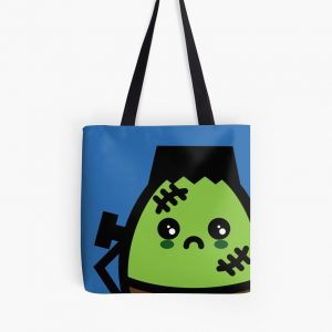 Creepy Egg Frankenstein Tote Bag