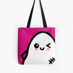 Creepy Egg Ghost Tote Bag