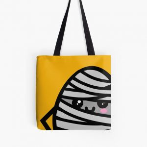 Creepy Egg Mummy Tote Bag