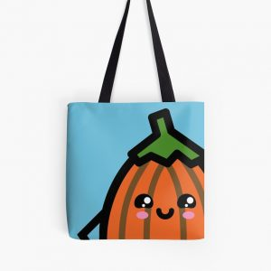 Creepy Egg Pumpkin Tote Bag