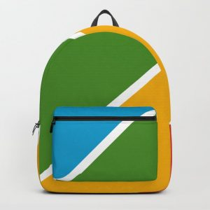 Colorful Diagonal Stripes Backpack