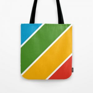 Colorful Diagonal Stripes Tote Bag