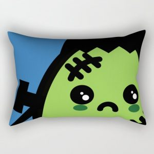 Creepy Egg Frankenstein Rectangular Pillow