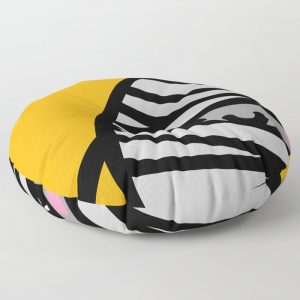 Creepy Egg Mummy Round Floor Pillow