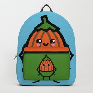 Creepy Egg Pumpkin Backpack