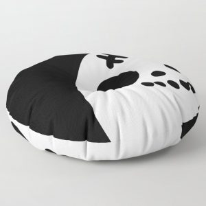 Creepy Egg Skull Round Floor Pillow