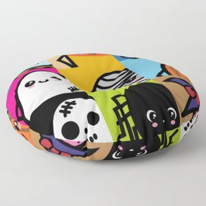 Creepy Eggs Series Round  Floor Pillow
