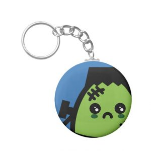 Creepy Egg Frankenstein Keychain