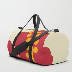 Red Hibiscus Flower Duffle Bag