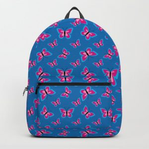 Butterfly Pattern – Blue Backpack