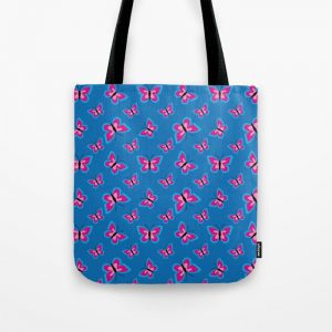 Butterfly Pattern – Blue Tote Bag