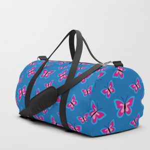 Butterfly Pattern – Blue Duffle Bag