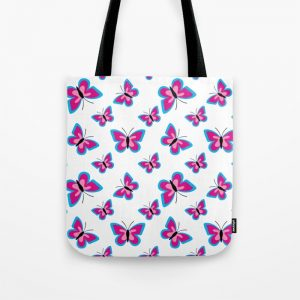 Butterfly Pattern – White Tote Bag