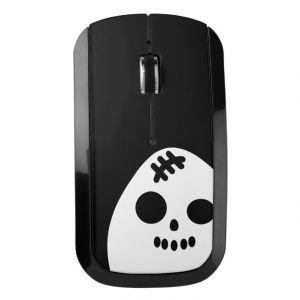 Creepy Egg Skull Wireless Mouse