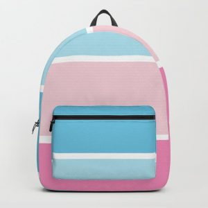 Pastel Pink Blue Stripes Backpack