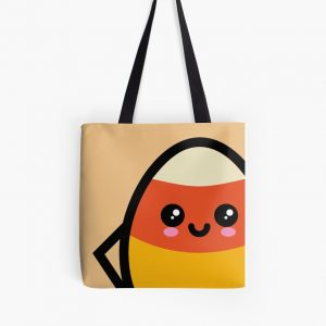 Creepy Egg Candy Corn Tote Bag