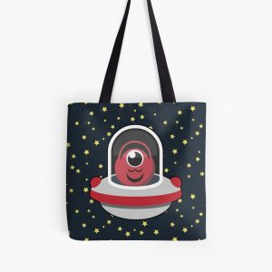 Run Astro Run – Red – Starfield Tote Bag