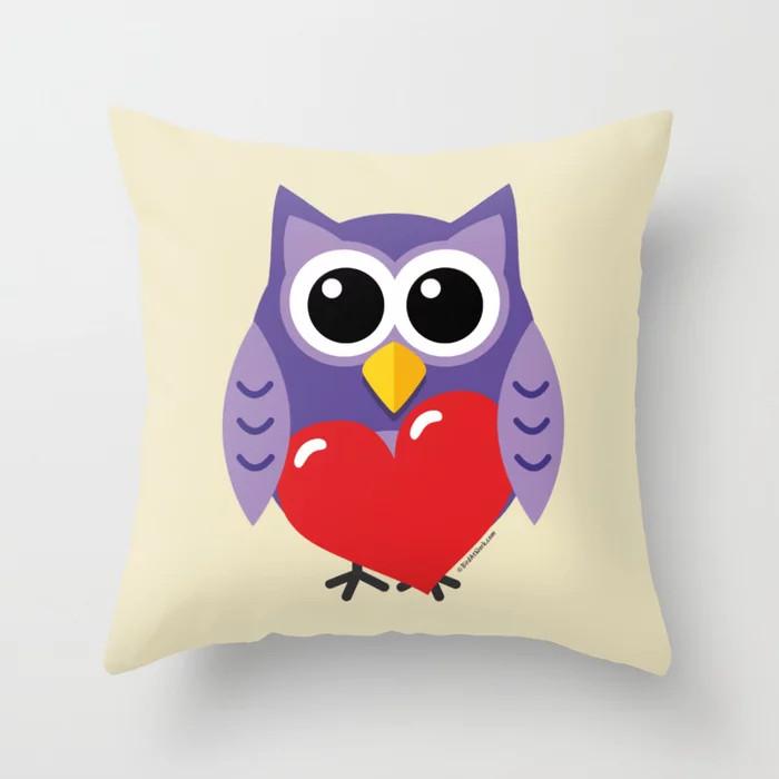 Society6 - Throw Pillow - An Owly Love